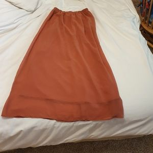 MAXI RED ORANGE skirt